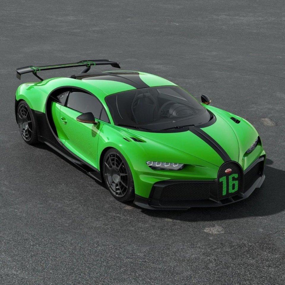 Bugatti Pur Sport: Bugatti Chiron Pur Sport: El Auto Más Verde Y Raro De La